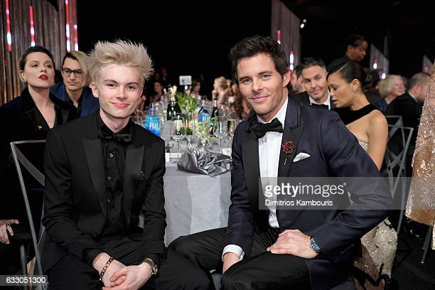 Actors Jack Marsden and James Marsden pose during The 23rd Annual Screen Actors Guild Awards at The Shrine Auditorium on January 29 2017 in Los...