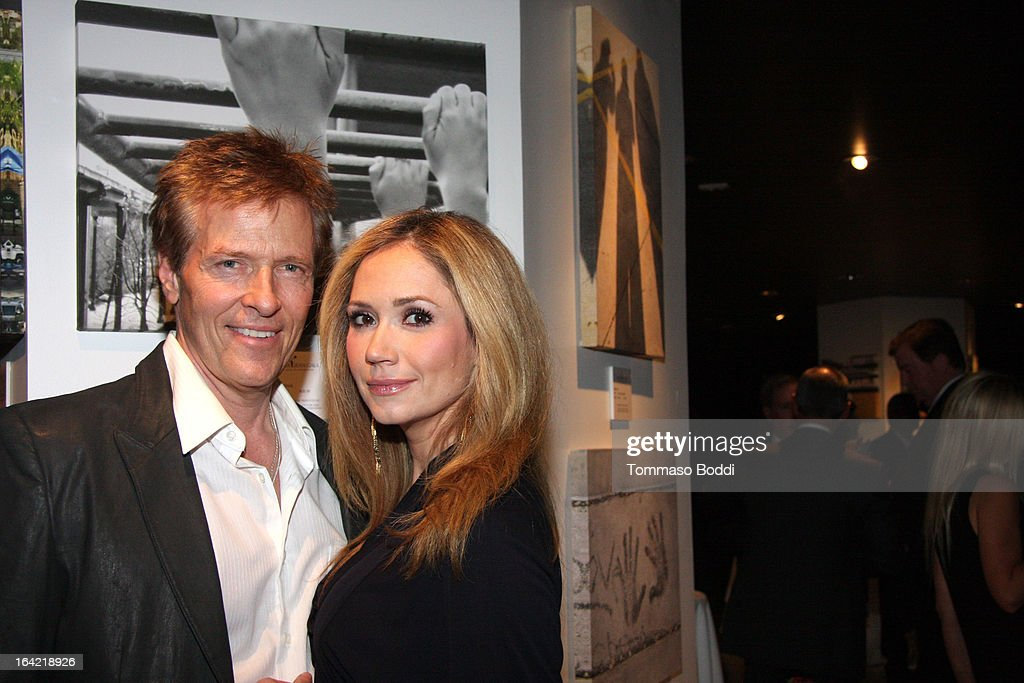 Actors Jack Wagner (L) and Ashley Jones attend the 1st Annual Norma Jean Gala held at the TCL Chinese Theatre on March 20, 2013 in Hollywood, California.