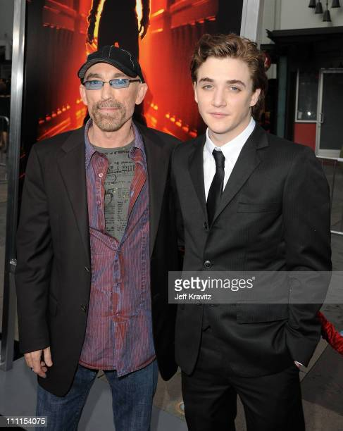 Actors Jackie Earle Haley and Kyle Gallner arrive at the Los Angeles premiere of 'A Nightmare On Elm Street' held at Grauman's Chinese Theatre on...