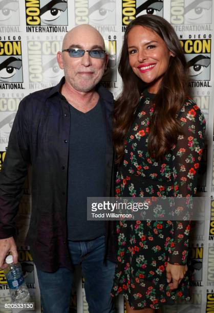 Actors Jackie Earle Haley and Yara Martinez at Amazon's 'The Tick' panel at San Diego ComicCon International 2017 at San Diego Convention Center on...