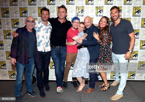 Actors Jackie Earle Haley Brendan Hines Peter Serafinowicz Griffin Newman Valorie Curry Michael Cerveris Yara Martinez and Scott Speiser at Amazon's...