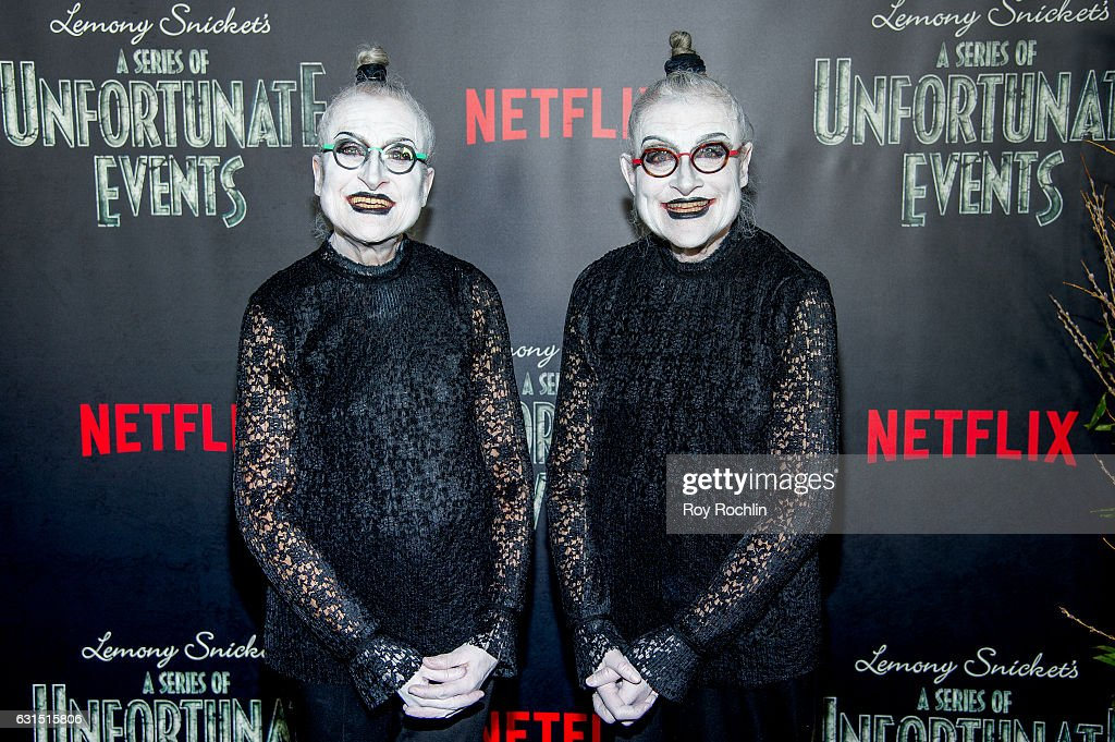 actors jackie robbins and joyce robbins attend lemony snickets a series of unfortunate events - Halloween Actors 2017