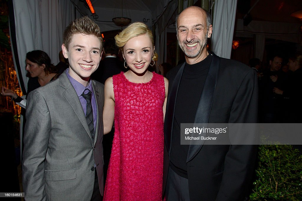 Actors Jackson Pace, Peyton List and David Marciano attend the Entertainment Weekly Pre-SAG Party hosted by Essie and Audi held at Chateau Marmont on January 26, 2013 in Los Angeles, California.