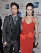 Actors Jackson Rathbone and Ashley Greene attend the premiere of 'The Twilight Saga ÊBreaking Dawn Part 1' at the Winter Garden Theatre on November...