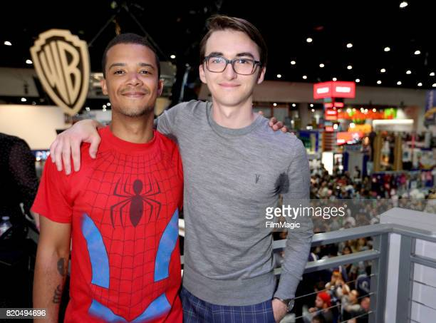 Actors Jacob Anderson and Isaac Hempstead Wright at the 'Game of Thrones' autograph signing with HBO at San Diego ComicCon International 2017 at San...
