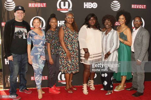Actors Jacob Berger Megan Smith Iyana McNichols Lisa CortesGabby Sidibe Yvonne Stickney and Kia Perry at AMC Empire 25 theater on September 23 2017...