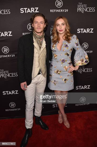 Actors Jacob CollinsLevy and Jodie Comer attends New York special screening event of STARZ 'The White Princess' hosted by STARZ Refinery29 at...