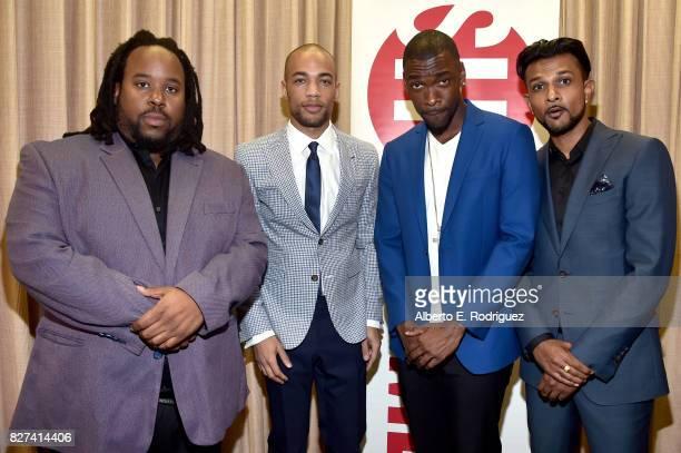 Actors Jacob MingTrent Kendrick Sampson Jay Pharoah and Utkarsh Ambudkar of 'White Famous' at the Showtime portion of the 2017 Summer Television...