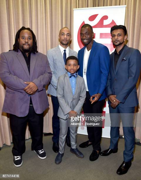 Actors Jacob MingTrent Kendrick Sampson Lonnie Chavis Jay Pharoah and Utkarsh Ambudkar of 'White Famous' at the Showtime portion of the 2017 Summer...