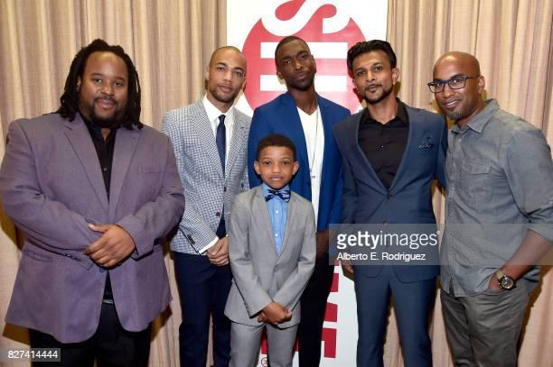 Actors Jacob MingTrent Kendrick Sampson Lonnie Chavis Jay Pharoah Utkarsh Ambudkar and Executive Producer Tim Story of 'White Famous' at the Showtime...