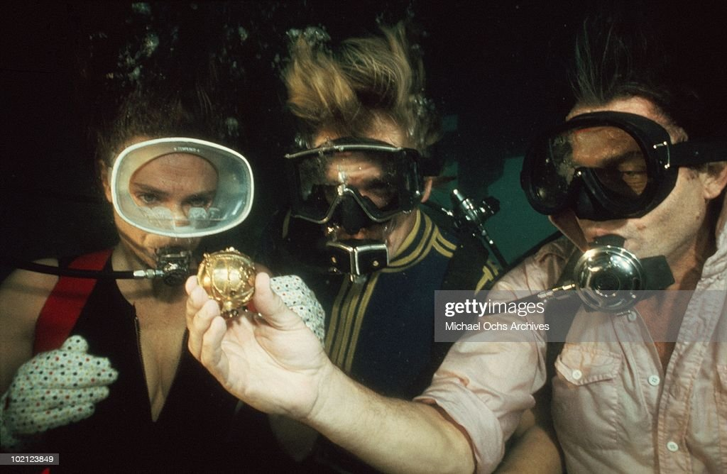Actors (L-R) Jacqueline Bisset, Nick Nolte and Robert Shaw in a scene from the movie 'The Deep' in 1977 in Australia.