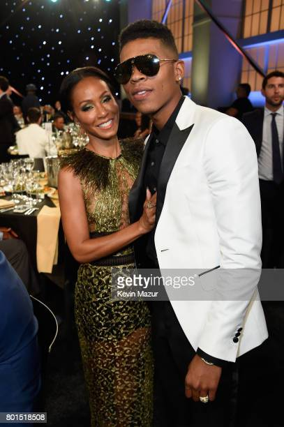 Actors Jada Pinkett Smith and Bryshere Y Gray pose during the 2017 NBA Awards Live on TNT on June 26 2017 in New York New York 27111_002