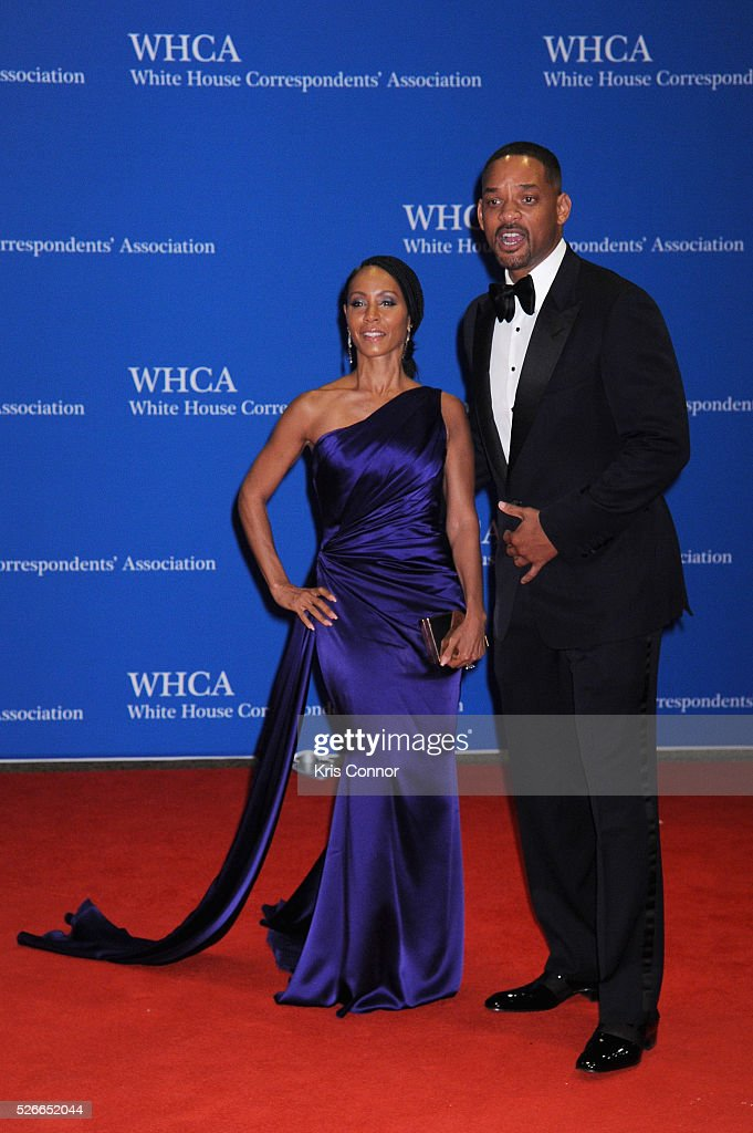 Actors Jada Pinkett Smith and Will Smith attend the 102nd White House Correspondents' Association Dinner on April 30, 2016 in Washington, DC.