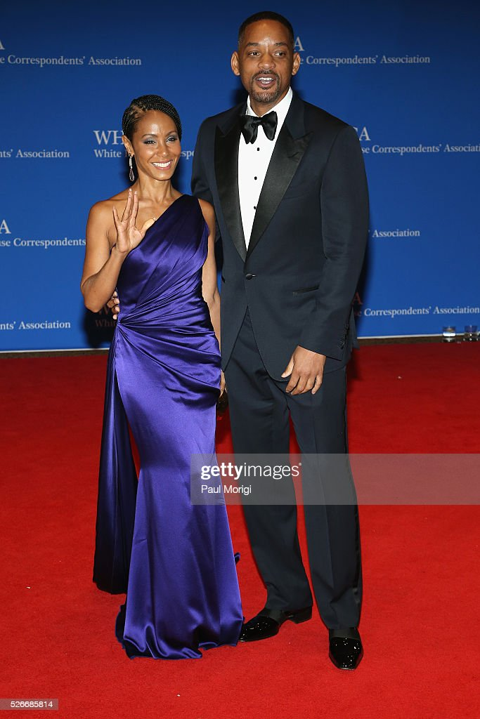 Actors <a gi-track='captionPersonalityLinkClicked' href=/galleries/search?phrase=Jada+Pinkett+Smith&family=editorial&specificpeople=201837 ng-click='$event.stopPropagation()'>Jada Pinkett Smith</a> (L) and <a gi-track='captionPersonalityLinkClicked' href=/galleries/search?phrase=Will+Smith&family=editorial&specificpeople=156403 ng-click='$event.stopPropagation()'>Will Smith</a> attends the 102nd White House Correspondents' Association Dinner on April 30, 2016 in Washington, DC.