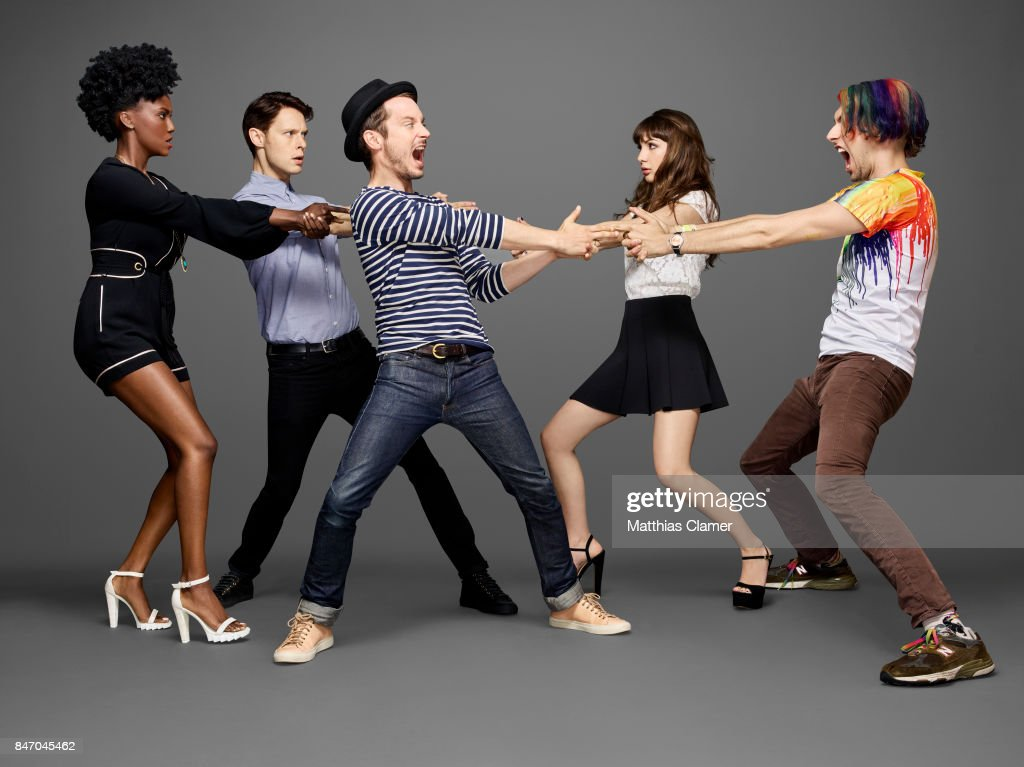 Actors Jade Eshete, Samuel Barnett, Elijah Wood, Hannah Marks and Max Landis from 'Dirk Gently' are photographed for Entertainment Weekly Magazine on July 23, 2016 at Comic Con in the Hard Rock Hotel in San Diego, California.