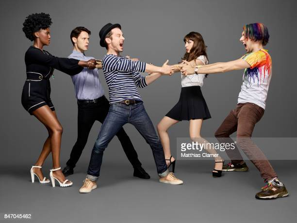 Actors Jade Eshete Samuel Barnett Elijah Wood Hannah Marks and Max Landis from 'Dirk Gently' are photographed for Entertainment Weekly Magazine on...