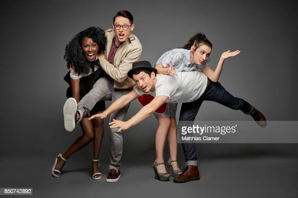 Actors Jade Eshete Samuel Barnett Hannah Marks and Elijah Wood from Dirk Gently's Holistic Detective Agency are photographed for Entertainment Weekly...