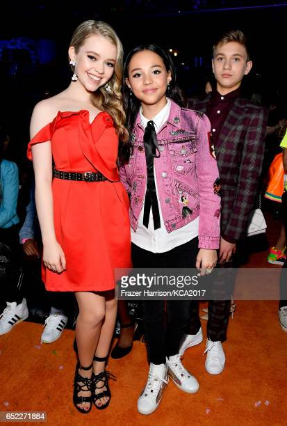 Actors Jade Pettyjohn and Breanna Yde in the audience at Nickelodeon's 2017 Kids' Choice Awards at USC Galen Center on March 11 2017 in Los Angeles...