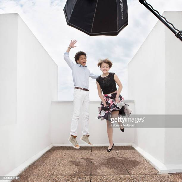 Actors Jaden Michael and Millicent Simmonds are photographed for the Hollywood Reporter on May 18 2017 in Cannes France