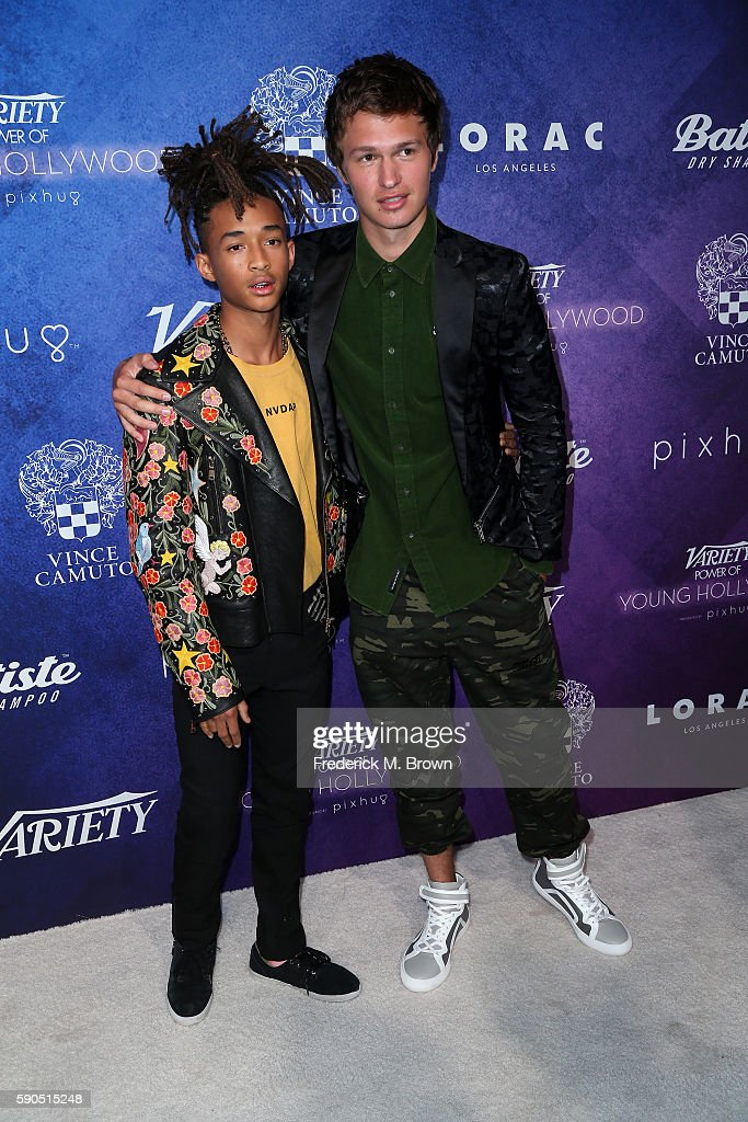 Actors Jaden Smith (L) and Ansel Elgort attend Variety's Power of Young Hollywood at NeueHouse Hollywood on August 16, 2016 in Los Angeles, California.