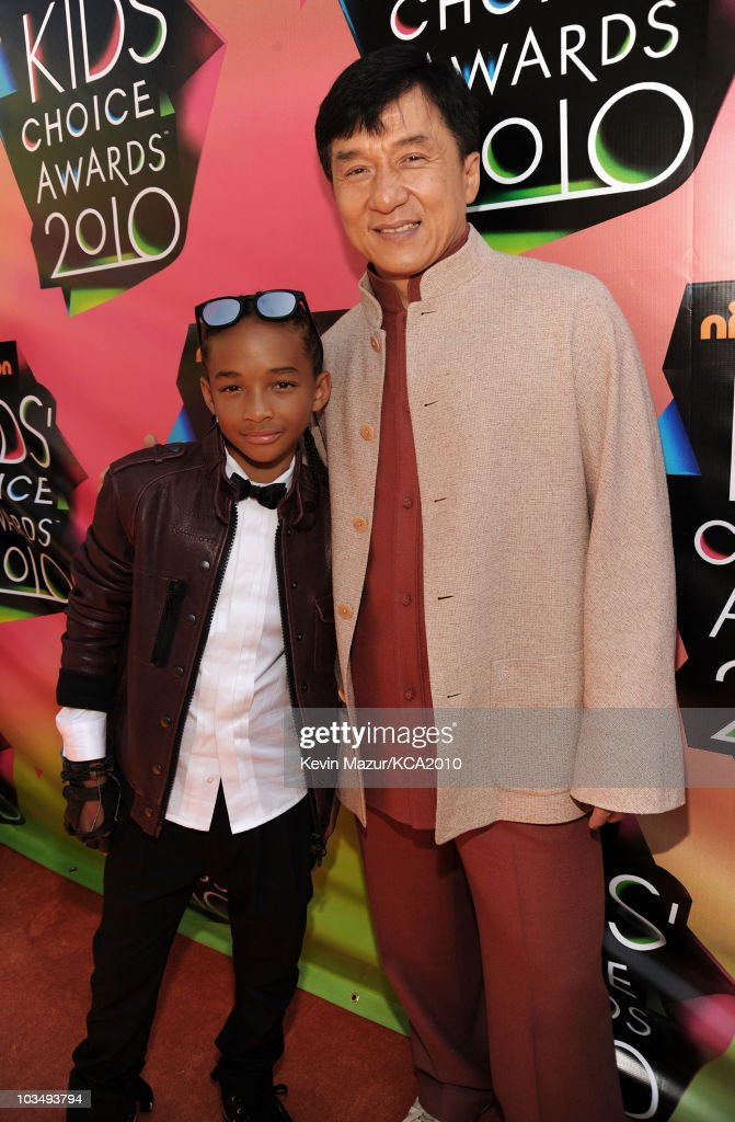 Actors Jaden Smith and Jackie Chan arrive at Nickelodeon's 23rd Annual Kids' Choice Awards held at UCLA's Pauley Pavilion on March 27, 2010 in Los Angeles, California.