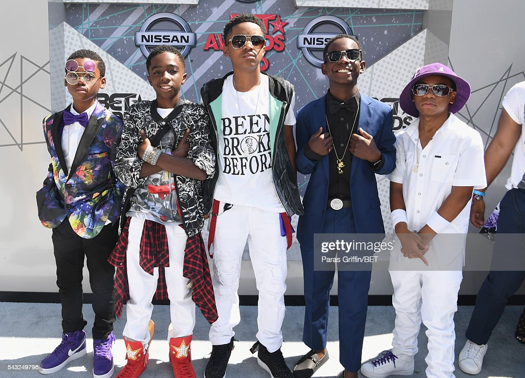 Actors Jahi Di'Allo Winston, Caleb McLaughlin, Myles Truitt, Dante Hoagland and Tyler Williams attend the 2016 BET Awards at the Microsoft Theater on June 26, 2016 in Los Angeles, California.