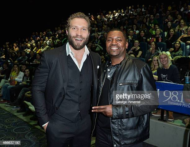 Actors Jai Courtney and Mekhi Phifer attend 'The Divergent Series Insurgent' Canadian Premiere held at Scotiabank Theatre on March 17 2015 in Toronto...