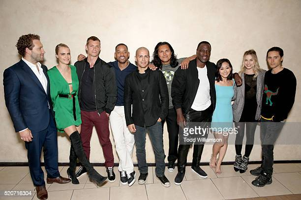 Actors Jai Courtney Cara Delevingne Joel Kinnaman Will Smith Jay Hernandez Adam Beach Adewale AkinnuoyeAgbaje Karen Fukuhara Margot Robbie and Jared...