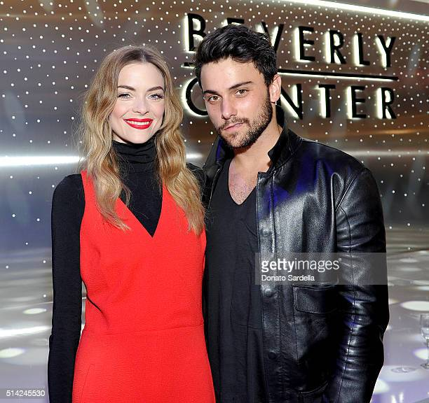 Actors Jaime King and Jack Falahee celebrate the renovation announcement of the Reimagined Beverly Center on March 7 2016 in Los Angeles California