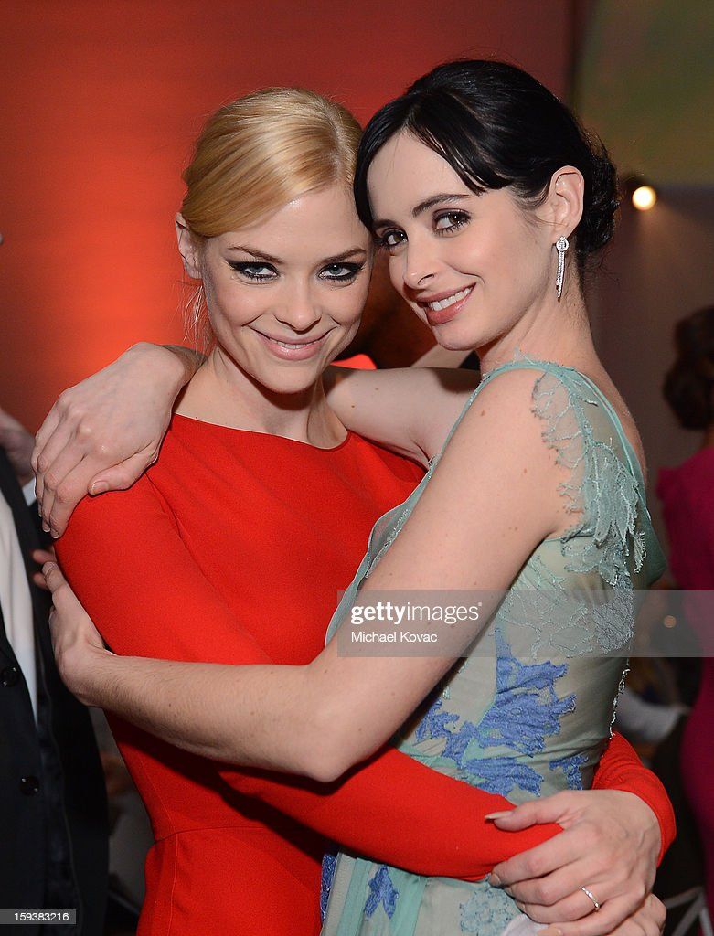 Actors <a gi-track='captionPersonalityLinkClicked' href=/galleries/search?phrase=Jaime+King+-+Actress&family=editorial&specificpeople=206809 ng-click='$event.stopPropagation()'>Jaime King</a> and <a gi-track='captionPersonalityLinkClicked' href=/galleries/search?phrase=Krysten+Ritter&family=editorial&specificpeople=655673 ng-click='$event.stopPropagation()'>Krysten Ritter</a> attend The Art of Elysium's 6th Annual HEAVEN Gala presented by Audi at 2nd Street Tunnel on January 12, 2013 in Los Angeles, California.