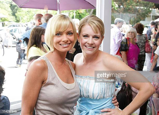 Actors Jaime Pressly and Melissa Joan Hart attend the grand opening of Sweetharts on May 30 2009 in Sherman Oaks California