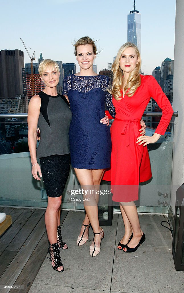 Actors Jaime Pressly Missi Pyle and Nora Kirkpatrick attend TV Land's 'Jennifer Falls' premiere party at Jimmy At The James Hotel on June 2 2014 in...