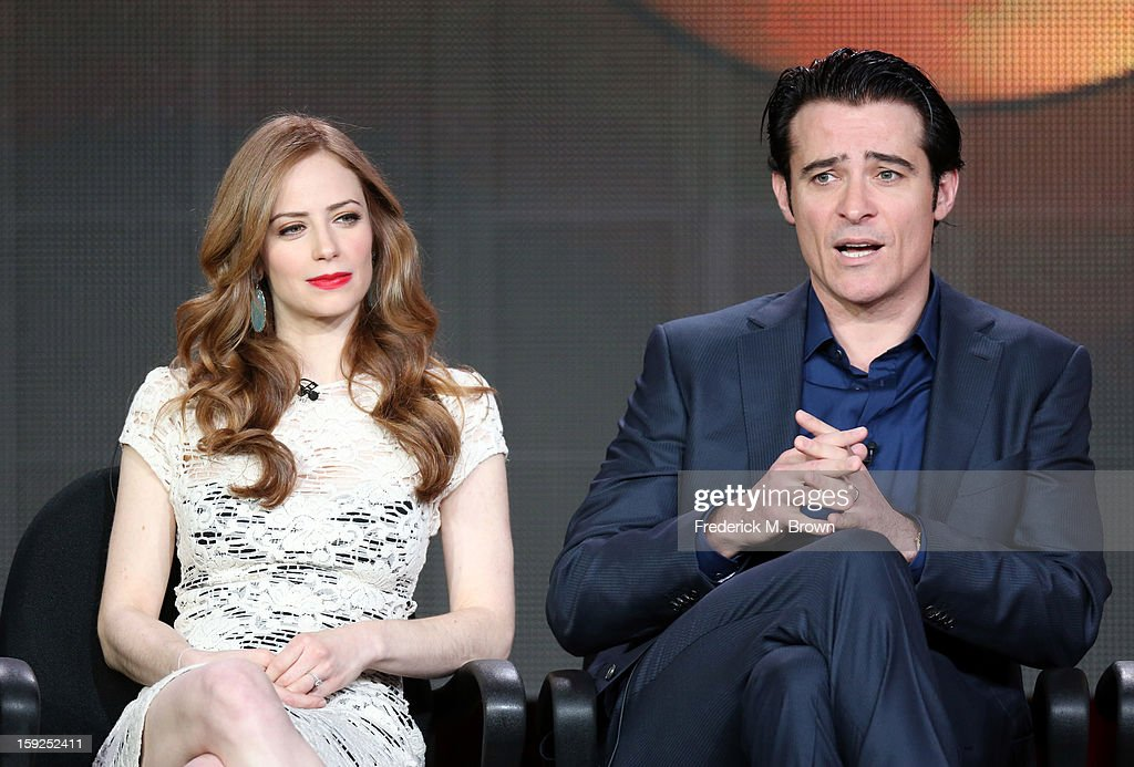Actors Jaime Ray Newman and Goran Visnjic of 'Red Widow' speak onstage during the ABC portion of the 2013 Winter TCA Tour at Langham Hotel on January 10, 2013 in Pasadena, California.