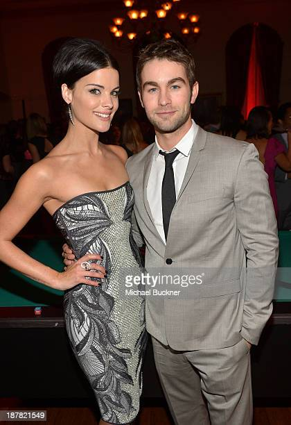 Actors Jaimie Alexander and Chace Crawford attend the GQ Men Of The Year Party at The Ebell Club of Los Angeles on November 12 2013 in Los Angeles...
