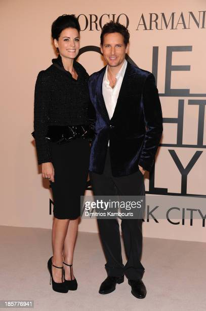 Actors Jaimie Alexander and Peter Facinelli wearing Armani attend Giorgio Armani One Night Only NYC at SuperPier on October 24 2013 in New York City