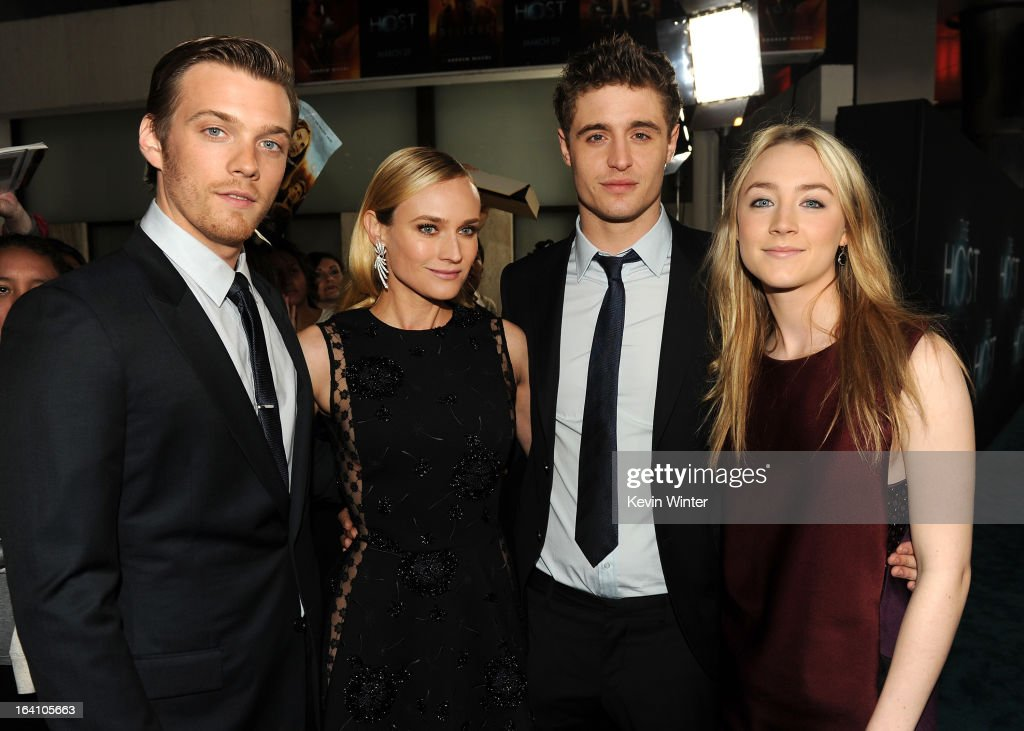 Actors Jake Abel, Diane Kruger, Max Irons, and Saoirse Ronan attend the premiere of Open Road Films 'The Host' at ArcLight Cinemas Cinerama Dome on March 19, 2013 in Hollywood, California.