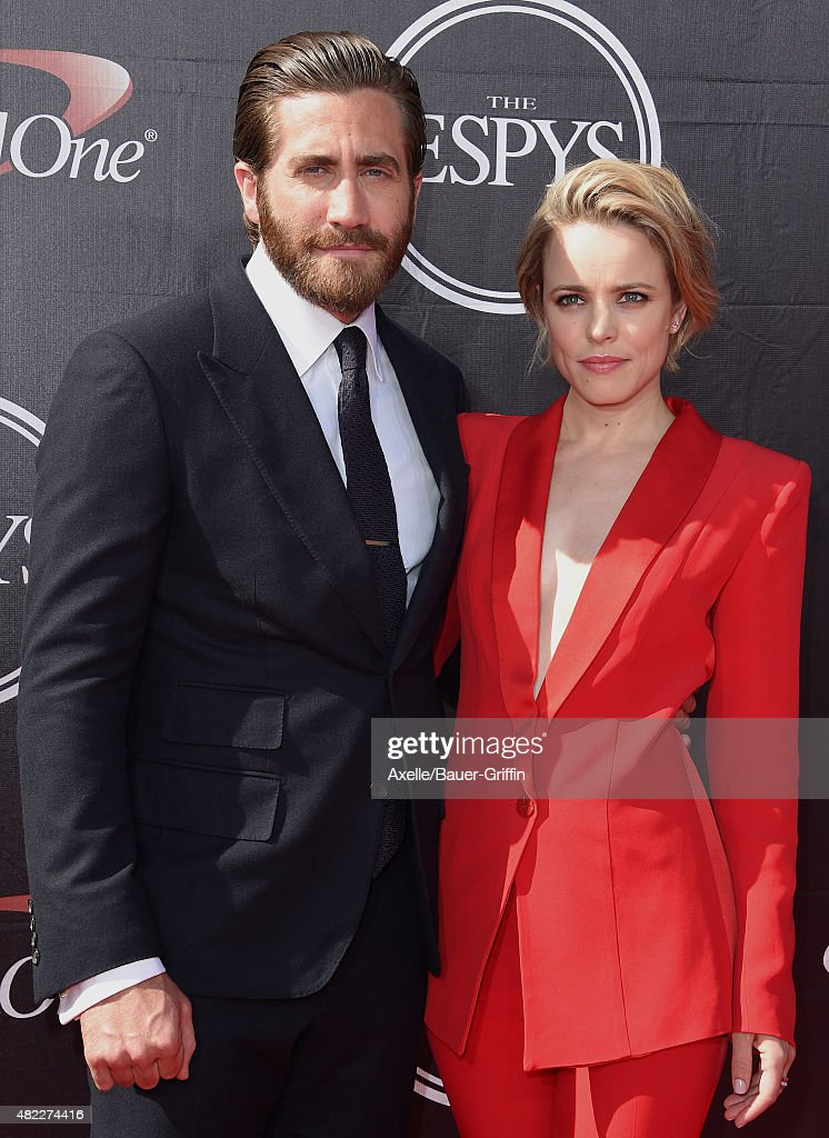 Actors Jake Gyllenhaal and Rachel McAdams arrive at The 2015 ESPYS at Microsoft Theater on July 15, 2015 in Los Angeles, California.