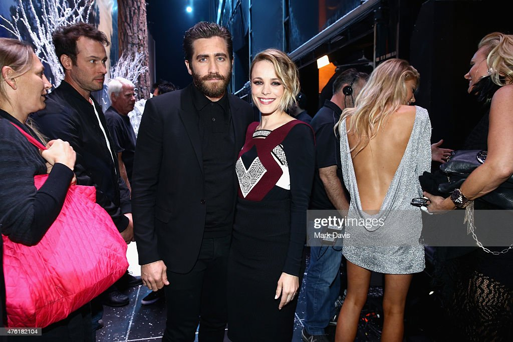 Actors Jake Gyllenhaal and Rachel McAdams attend Spike TV's Guys Choice 2015 at Sony Pictures Studios on June 6 2015 in Culver City California