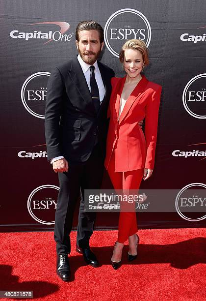 Actors Jake Gyllenhaal and Rachel McAdams attend The 2015 ESPYS at Microsoft Theater on July 15 2015 in Los Angeles California