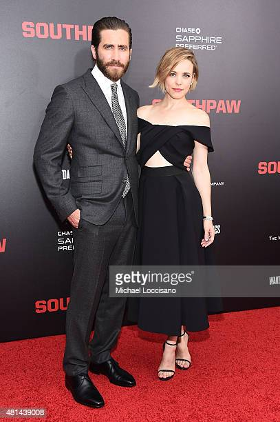 Actors Jake Gyllenhaal and Rachel McAdams attend the New York premiere of 'Southpaw' for THE WRAP at AMC Loews Lincoln Square on July 20 2015 in New...