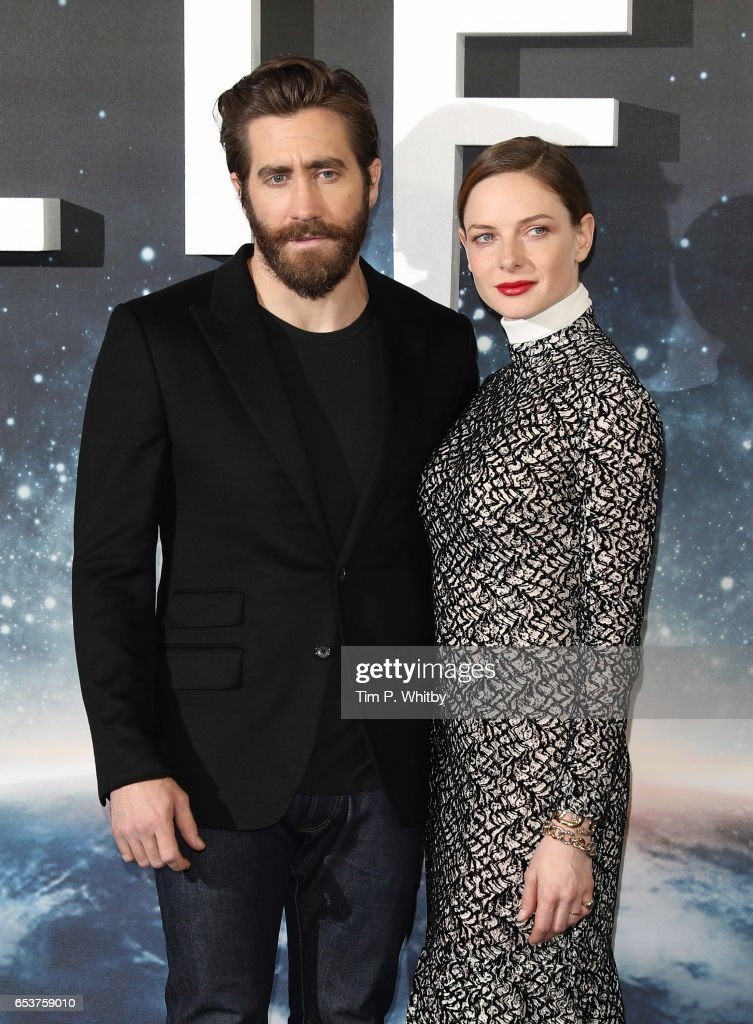 Actors, Jake Gyllenhaal and Rebecca Ferguson attend a photocall for 'Life' at the Corinthia Hotel on March 16, 2017 in London, England. 'Life' is released in cinemas nationwide on March 24, 2017.