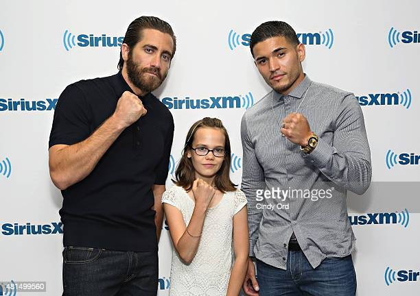 Actors Jake Gyllenhaal Oona Laurence and Miguel Gomez take part in SiriusXM's Entertainment Weekly Radio 'Southpaw' Town Hall with Jake Gyllenhaal...