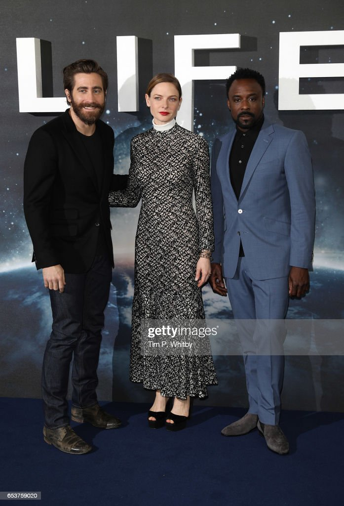 Actors, Jake Gyllenhaal, Rebecca Ferguson and Ariyon Bakare attend a photocall for 'Life' at the Corinthia Hotel on March 16, 2017 in London, England. 'Life' is released in cinemas nationwide on March 24, 2017.