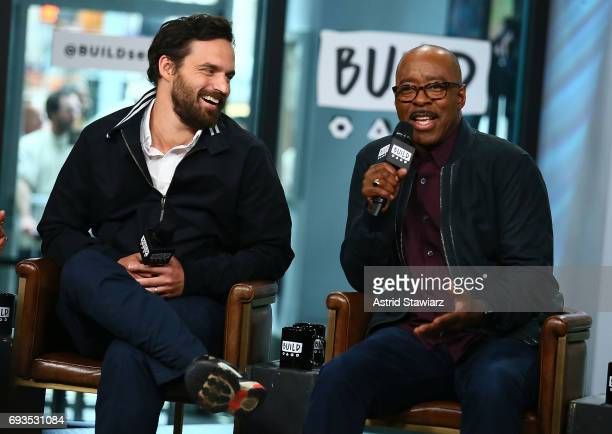 Actors Jake Johnson and Courtney B Vance discuss 'The Mummy' at Build Studio on June 7 2017 in New York City