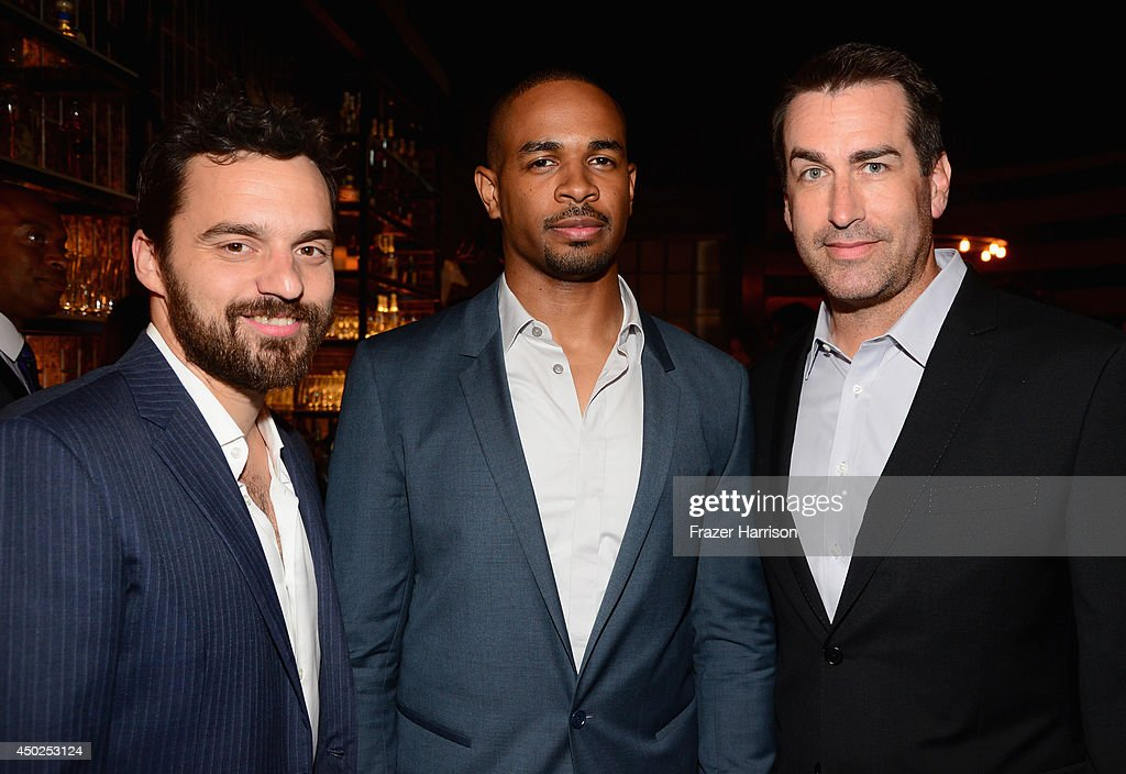 Actors Jake Johnson, Damon Wayans Jr. and Rob Riggle attend Spike TV's 'Guys Choice 2014' at Sony Pictures Studios on June 7, 2014 in Culver City, California.