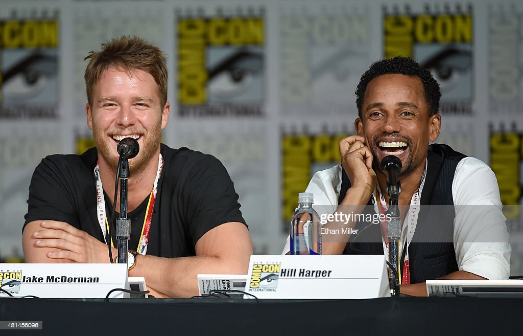 Actors Jake McDorman and Hill Harper attend CBS TV Studios' panel for 'Limitless' during ComicCon International 2015 at the San Diego Convention...