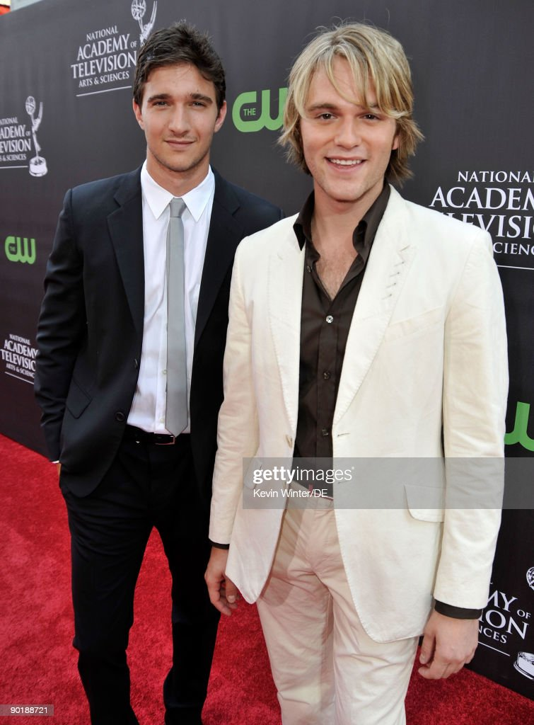 Actors Jake Silbermann (L) and Van Hansis arrive at the 36th Annual Daytime Emmy Awards at The Orpheum Theatre on August 30, 2009 in Los Angeles, California.