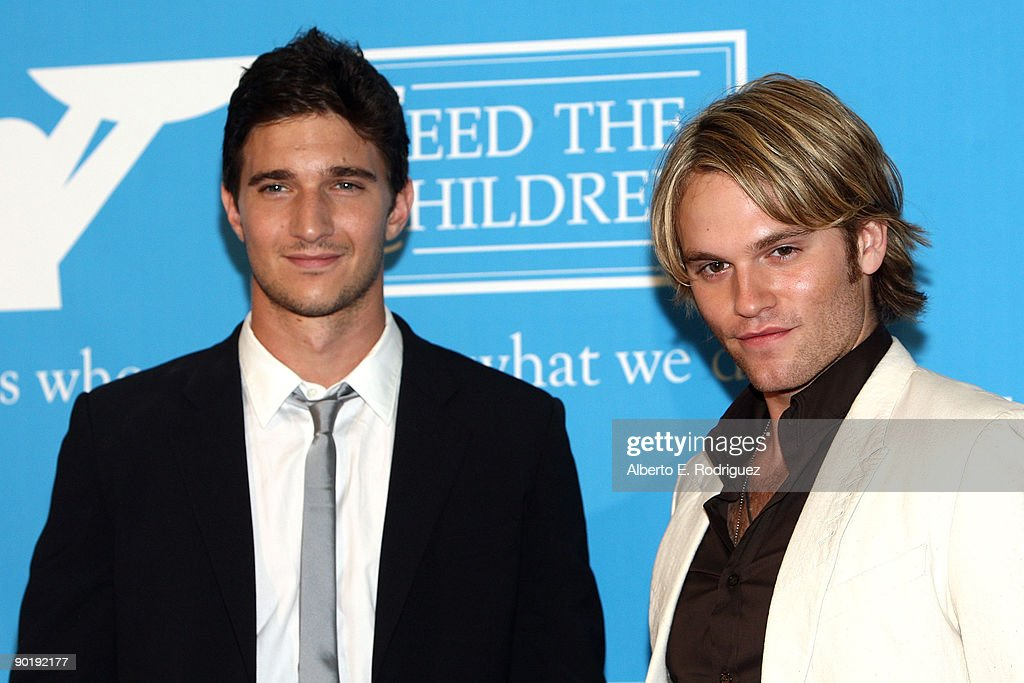 Actors Jake Silbermann and Van Hansis pose in the press room during the 36th Annual Daytime Emmy Awards at The Orpheum Theatre on August 30, 2009 in Los Angeles, California.