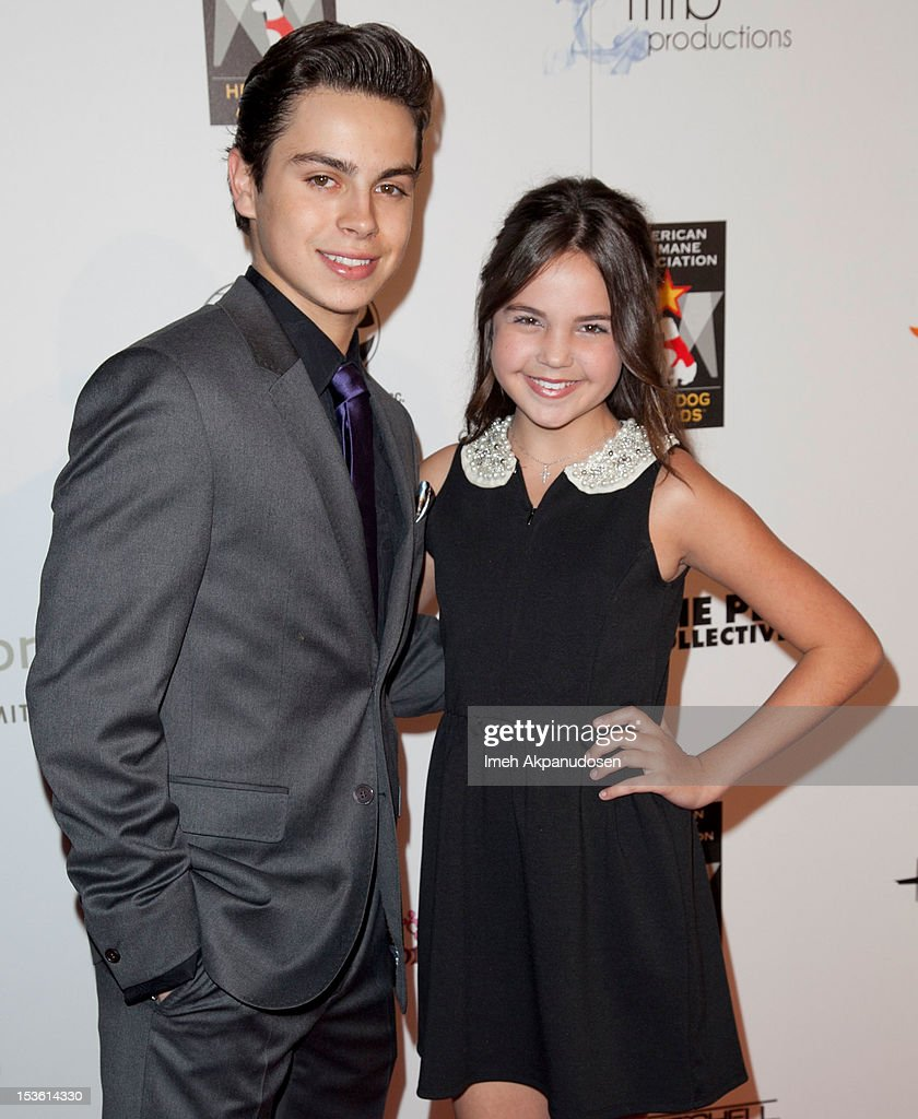 Actors <a gi-track='captionPersonalityLinkClicked' href=/galleries/search?phrase=Jake+T.+Austin&family=editorial&specificpeople=709221 ng-click='$event.stopPropagation()'>Jake T. Austin</a> (L) and <a gi-track='captionPersonalityLinkClicked' href=/galleries/search?phrase=Bailee+Madison&family=editorial&specificpeople=4136620 ng-click='$event.stopPropagation()'>Bailee Madison</a> attend The American Humane Association's Hero Dog Awards on October 6, 2012 in Beverly Hills, California.