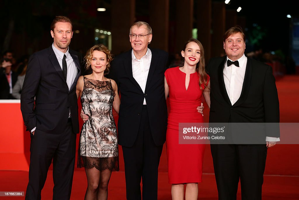 Actors <a gi-track='captionPersonalityLinkClicked' href=/galleries/search?phrase=Jakob+Cedergren&family=editorial&specificpeople=2394592 ng-click='$event.stopPropagation()'>Jakob Cedergren</a>, Helle Fagralid, director Nils Malmros, actors Maja Dybboe and Nicolas Bro attend 'Sorrow And Joy' Premiere And 'Quando I Tedeschi Non Sapevano Nuotare' Premiere during The 8th Rome Film Festival at Auditorium Parco Della Musica on November 11, 2013 in Rome, Italy.